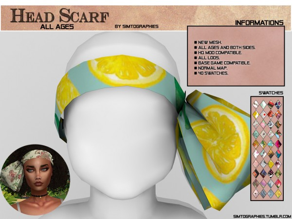 Simtographies: Head Scarf