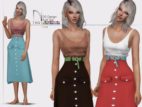 The Sims Resource: Design Knit Top by DarkNighTt