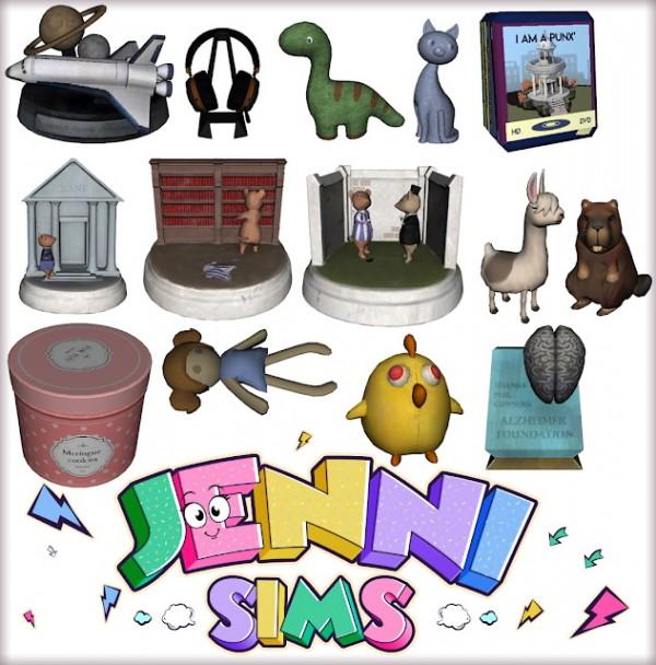 Jenni Sims: Decorative set Clutter Feeling Like