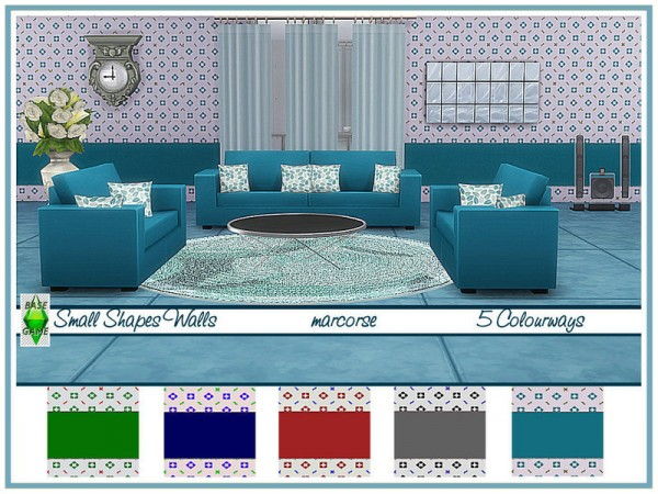 The Sims Resource: Small Shapes Walls by marcorse