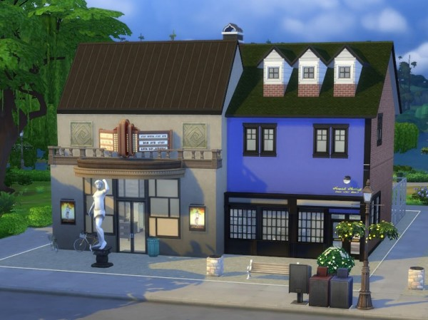 KyriaTs Sims 4 World: Apollo Cinema and Library