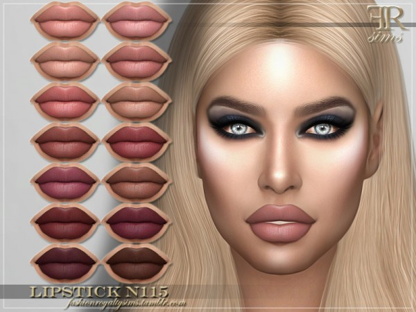 The Sims Resource: Lipstick N115 by FashionRoyaltySims