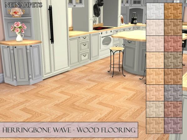 The Sims Resource: Herringbone Wave Wood Flooring by neinahpets