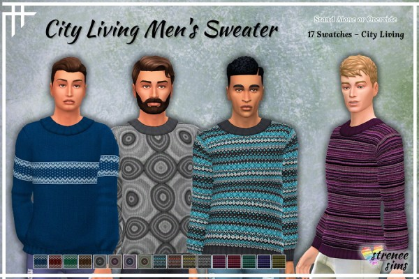 Strenee sims: City Living Men's Sweater