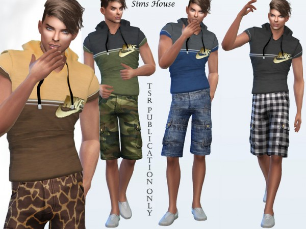 The Sims Resource: Mens t shirt with a hood by Sims House