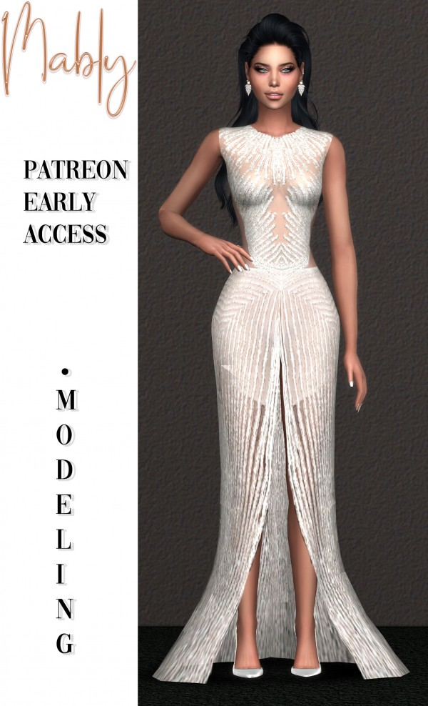 Mably Store: Modeling gown
