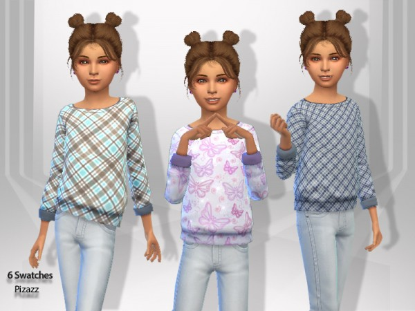 The Sims Resource: Kids Sweaters by pizazz