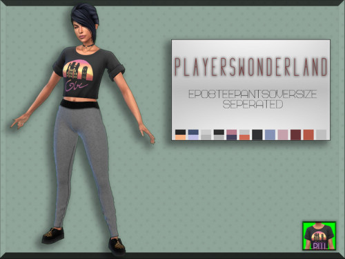 Players Wonderland: Tee Pants Oversize Seperated
