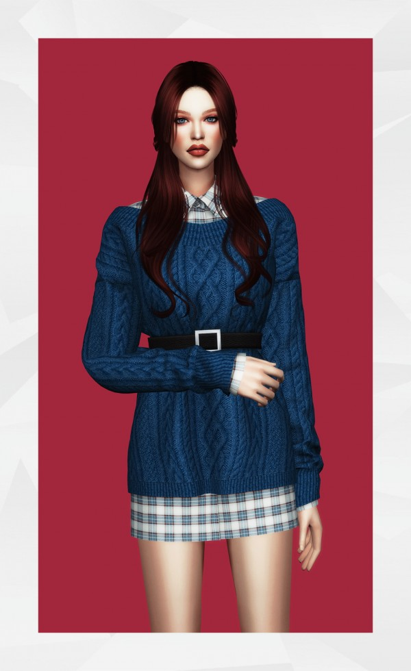 Gorilla: Belted Sweater Dress and Shirt