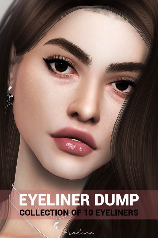 Praline Sims: Eyeliner Dump