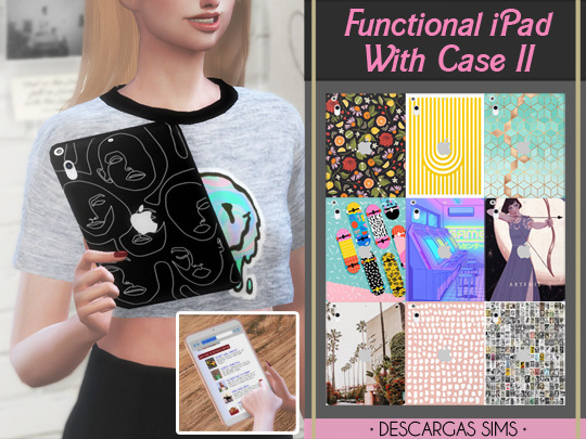 Descargas Sims: Functional iPad   With Case II