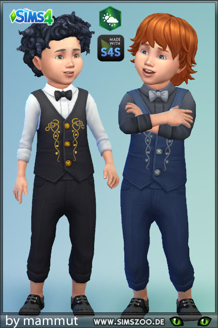 Blackys Sims 4 Zoo: Todd Outfit Wizard by mammut