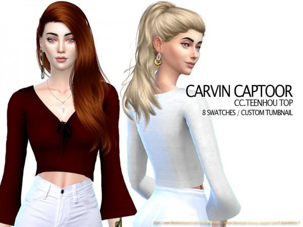 The Sims Resource: Teenhou Top by carvin captoor