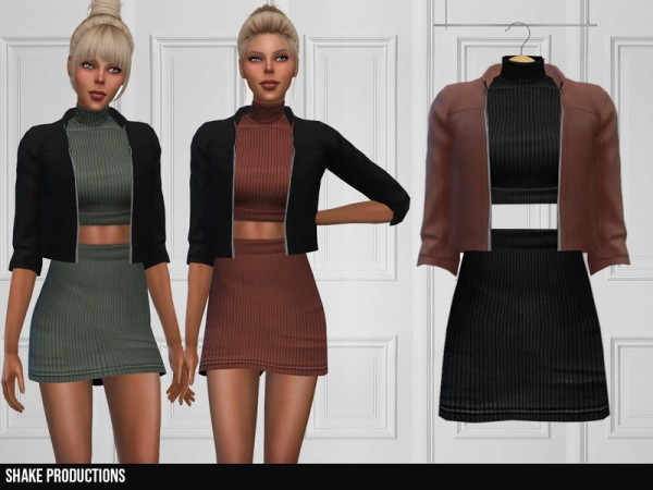 The Sims Resource: 333   Dress With Jacket by ShakeProductions