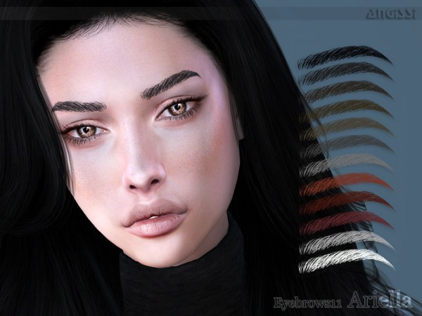The Sims Resource: Eyebrows11 Ariella by ANGISSI