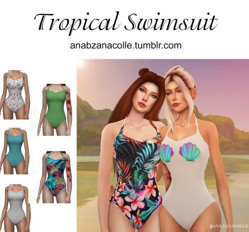 Ana Zanacolle: Tropical Swimsuit image