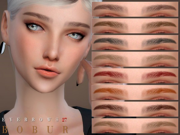 The Sims Resource: Eyebrows 27 by Bobur