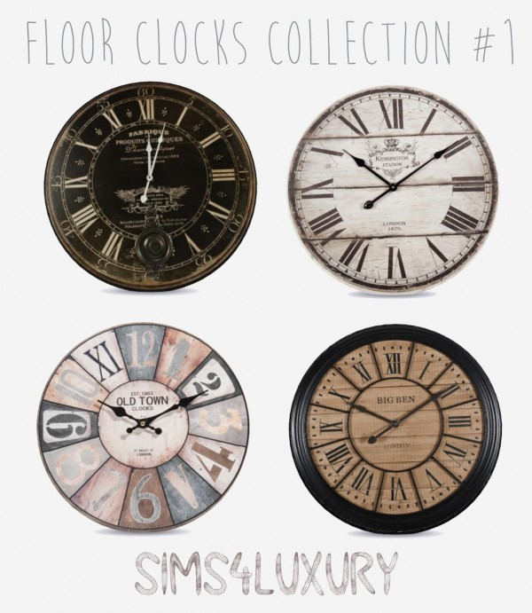 Sims4Luxury: Floor Clocks Collection 1