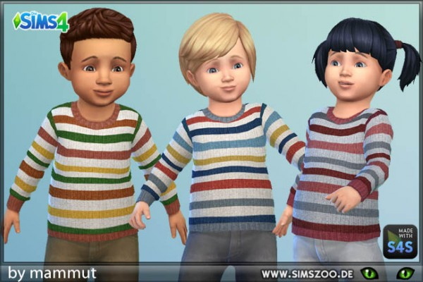 Blackys Sims 4 Zoo: Todd Jumper Stripes 2 by mammut