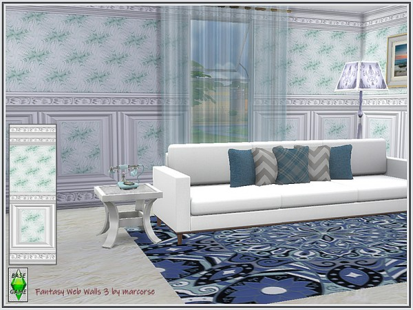 The Sims Resource: Fantasy Web Walls by marcorse