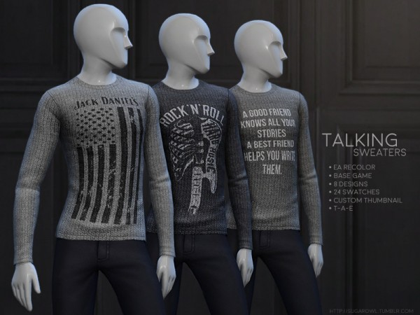 The Sims Resource: Talking sweaters by sugar owl