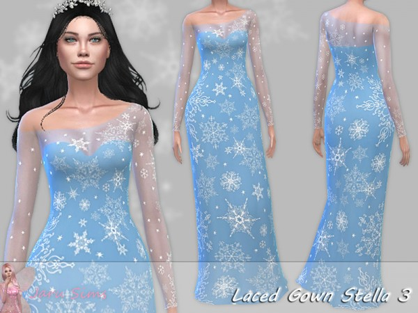 The Sims Resource: Laced Gown Stella 3 by Jaru Sims
