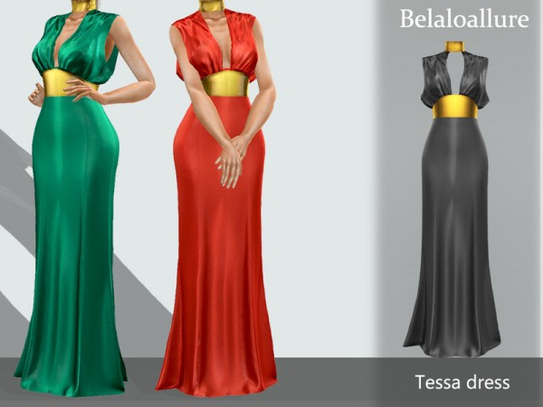 The Sims Resource: Tessa dress by belal1997