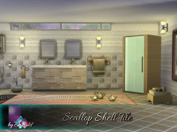 The Sims Resource: Scallop Shell Tile by emerald