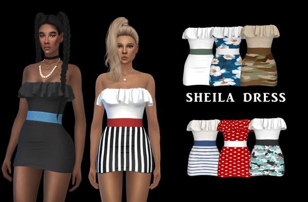 Leo 4 Sims: Sheila Dress