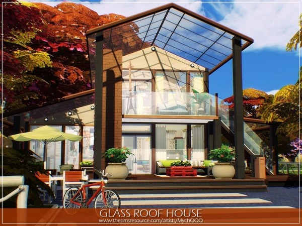 The Sims Resource: Glass Roof House by MychQQQ