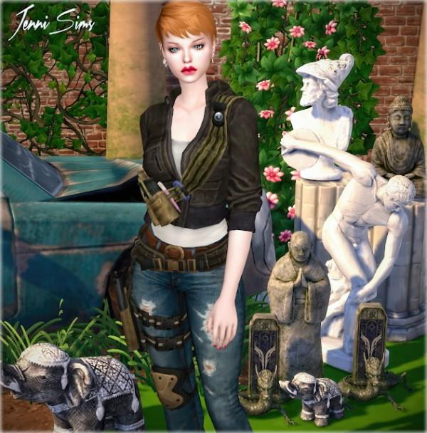 Leo 4 Sims: Decorative Statues   7 Items