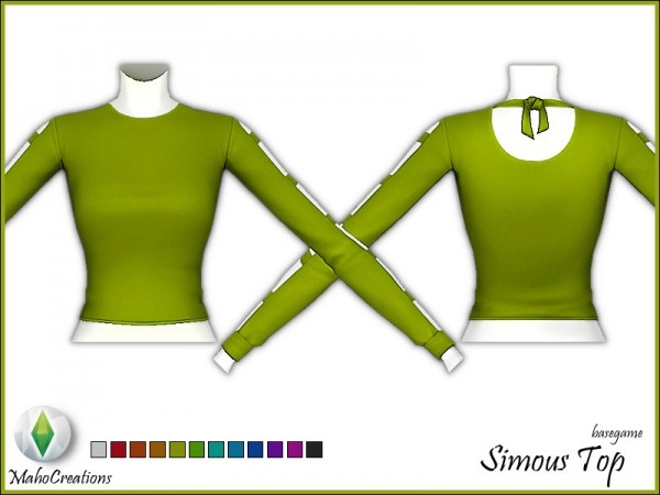 The Sims Resource: Simous Top by MahoCreations
