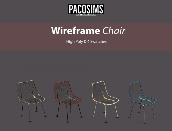 Paco Sims: Wireframe Chair