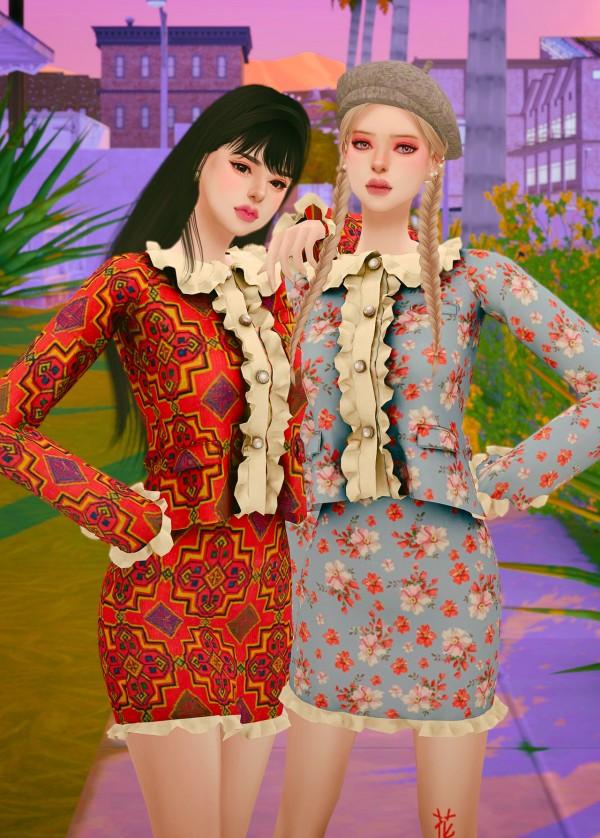Rimings: Knit Mini Dress and Cardigan