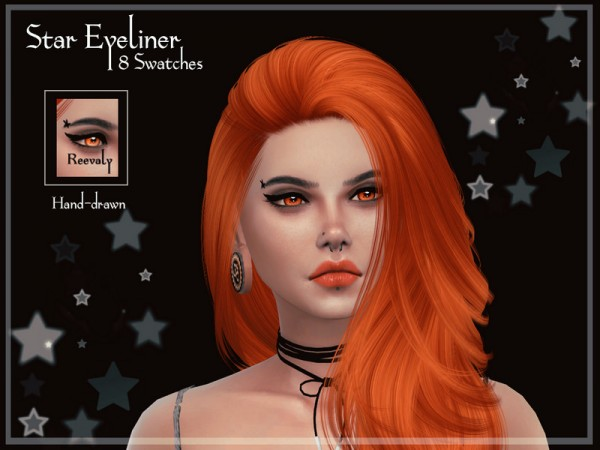 The Sims Resource: Star Eyeliner by Reevaly