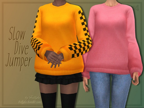The Sims Resource: Slow Dive Jumper by Trillyke