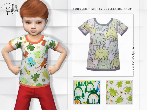 The Sims Resource: Toddler T shirts Collection RPL01 by RobertaPLobo