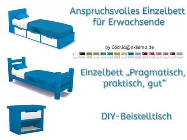 Akisima Sims Blog: Single beds set to the university by  Cäcilia
