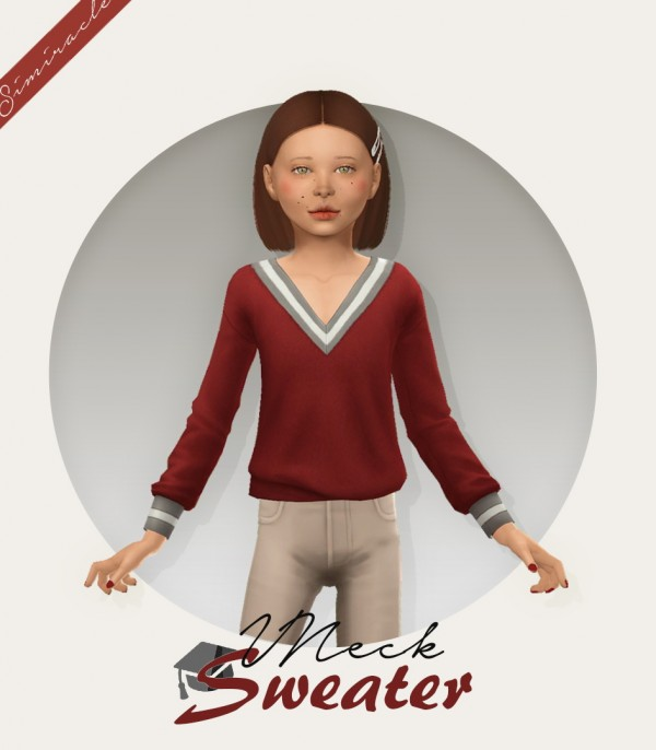 Simiracle: VNeck Sweater   Kids Version