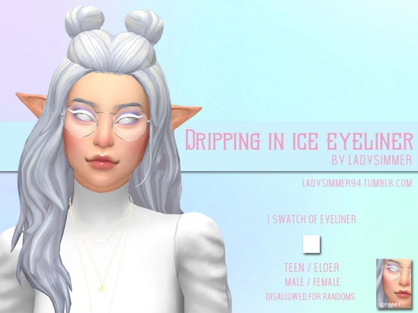 The Sims Resource: Dripping In Ice Eyeliner by LadySimmer94