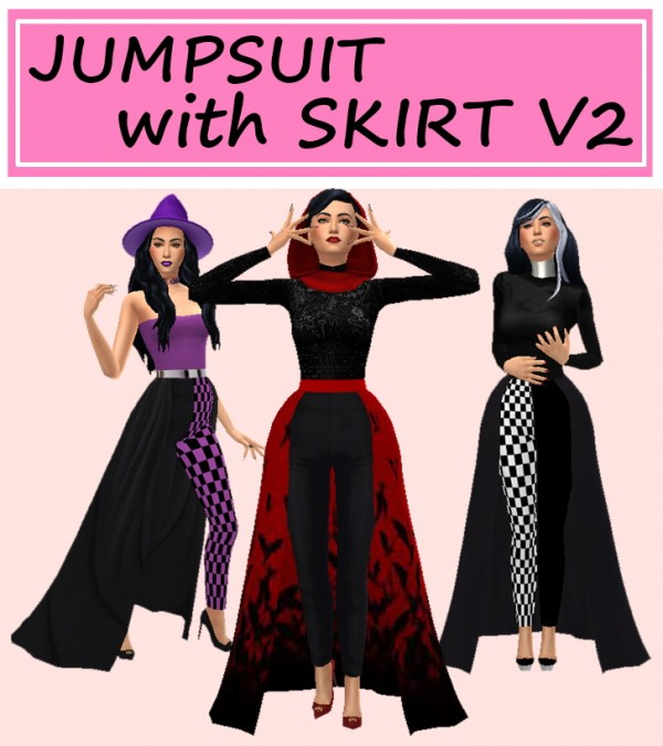 Sims 4 Sue: Jumpsuit with skirt v2