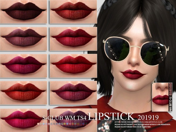The Sims Resource: Lipstick 201919 by S Club
