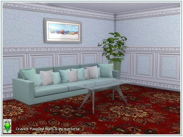 The Sims Resource: Crackle Panelled Walls by marcorse