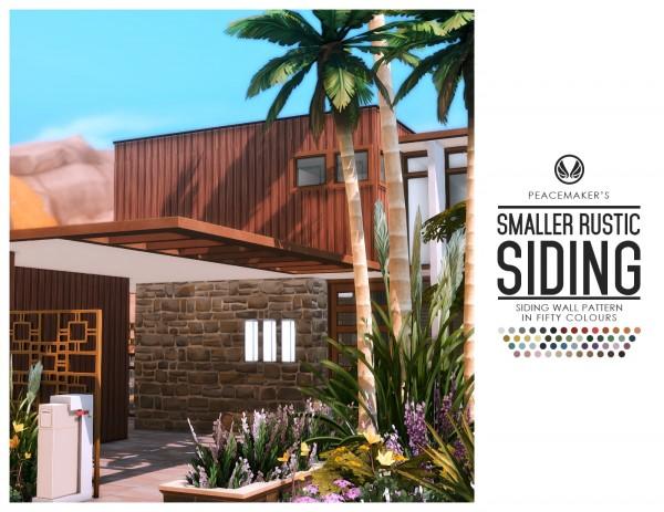 Simsational designs: Smaller Rustic Siding   Timber Baton Siding in 50 colours