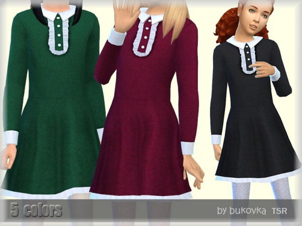The Sims Resource: Dress Colar Child by bukovka