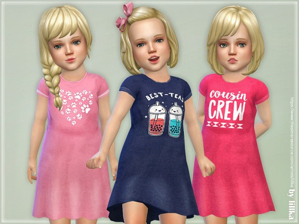 The Sims Resource: Toddler Dresses Collection P118 by lillka