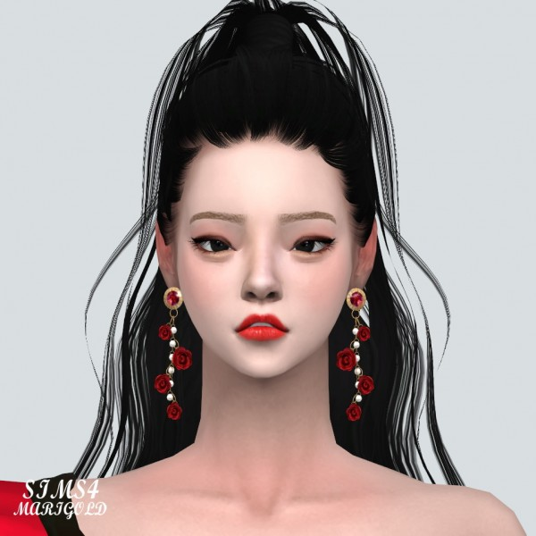 SIMS4 Marigold: Rose Point Gorgeous Earring V2