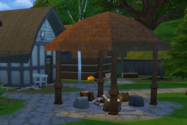 Blackys Sims 4 Zoo: Viking  house 2 by mammut