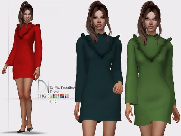 The Sims Resource: Ruffle Detailed Dress by DarkNighTt