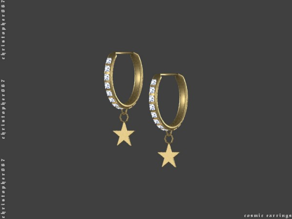 The Sims Resource: Cosmic Earrings by Christopher067